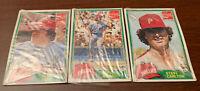 LOT(3)-1981 Topps Baseball MLB-Cello-Coke Packs-Cards-ROSE+SCHMIDT-Phil PHILLIES