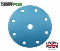 "150mm 6"" Wet and Dry Hook & Loop Sanding Discs Sandpaper for Velcro Pads DEERFOS"