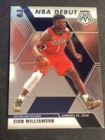 2019-20 Panini Mosaic Zion Williamson NBA Debut Rc Base Card #269 Pelicans
