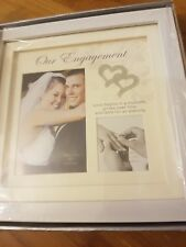 Juliana Collections  Our Engagement White Gloss Double Photo Frame