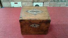 Antique Oak And Brass Money Box