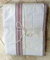"""POTTERY BARN ~ AMERICANA STRIPE PANEL DRAPE W/ RED ~ 50"""" X 84"""" ~ NEW ~ SOLD OUT"""