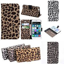 Leopard Print Pattern Case for Apple iPhone 5 5S SE 6 6S 6 7 8 Plus Wallet Cover