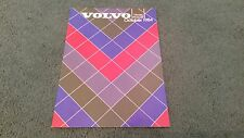 OCT 1984 / 1985 Model VOLVO UK PRICE LIST BROCHURE 300 340 360 240 740 760