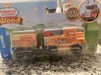 NEW Thomas & Friends Real Wood Flynn Wooden Railway Train
