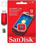 Sandisk Micro SD Card 32GB 16GB 8GB TF Flash Memory Cards lot Pack