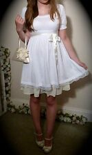 Summer Dress IvoryWhite Cotton Mini BNWT - UK Size 8-10
