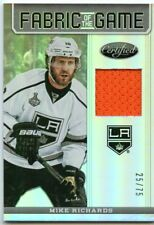 12/13 CERTIFIED FABRIC GAME JERSEY MIRROR HOT BOX MIKE RICHARDS 25/75 *47363