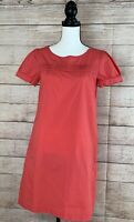 Womens J Crew Dress Size 4 Coral Pink Zip Side Pocketed EUC Excellent Condition