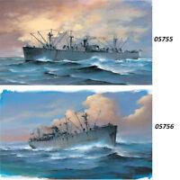 Trumpeter 05755/05756 1/700 SS Jeremiah O'Brien/John W. Brown Liberty Ship Model