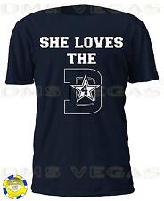 Dallas Cowboys She Loves The D 4 Dak Prescott Jersey Tee Shirt Men Size S-5XL