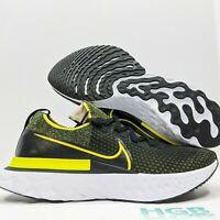 Nike React Infinity Run Men's Running Training Gym Sport Black Yellow CD4371-013