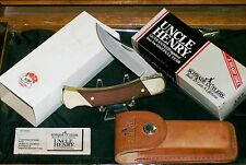 Schrade Lb7 Uncle Henry Knife Set W/Ball Cap Offer Sticker & Packaging,Sleeve