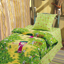 Baby kid bedding set bedclothes Bed linen Masha and the Bear On the Border