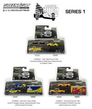 RACING HITCH & TOW SERIES 1 SET OF 3 1/64 DIECAST CARS BY GREENLIGHT 31050 A B C