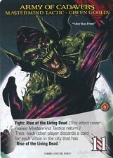 ZOMBIE GREEN GOBLIN 2015 UD Marvel Legendary SP MASTERMIND TACTIC ARMY CADAVERS