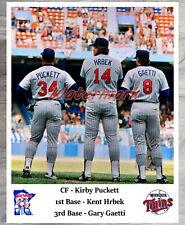 MLB Kirby Puckett Kent Hrbek Gary Gaetti Minnesota Twins Color 8 X 10  Photo Pic