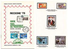 LIBRETTO FRONTESPIZIO BOLLI TIMBRATI RICCIONE 1978 FIERA INTERNAZIONALE