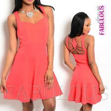 Regular Size Summer/Beach Solid Sundresses for Women