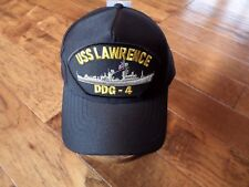 USS LAWRENCE DDG- 4 NAVY SHIP HAT U.S MILITARY OFFICIAL BALL CAP U.S.A MADE