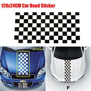 Racing Car SUV Decoration Sticker Black & White Lattice Checkerboard Waterproof