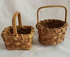 New Listing2 Piece Vintage Tender Heart Treasures Natural Woven Mini Basket Set 4""