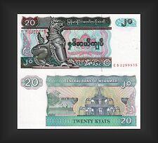 Banknote Myanmar 20 Kyats - Top Erhaltung - Rarität