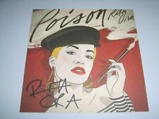 """RITA ORA - Poison UK 2015 Sony official 6"""" x 6"""" double sided card AUTOGRAPHED!"""