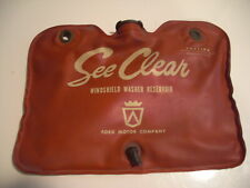 OEM Ford See Clear Red Windshield Washer Reservoir Bag 1961 Thunderbird/Galaxie