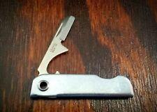 VINTAGE BASSETT 80 USA KEYCHAIN FOLDING KNIFE BOTTLE OPENER MADE IN USA
