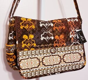 Marie By Giftcraft Large Bohemian Messenger Bag W/ Matching Coin Purse Wallet