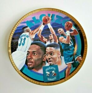 Vintage 1993 Alonzo Mourning Collector's Edition Plate 113 of 7500 NBA License