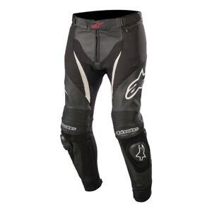 Alpinestars SP X Leather Motorcycle Motorbike Track Race Pants Jeans Black White