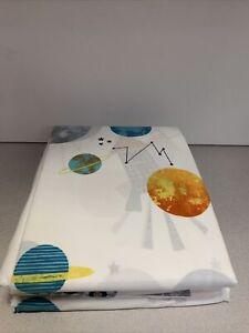 Space Travel 200ct Full Sheet Set Organc Cotton
