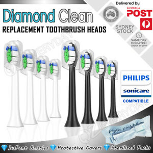DIAMOND CLEAN Replacement Brush Heads Philips Sonicare Toothbrush Compatible AU