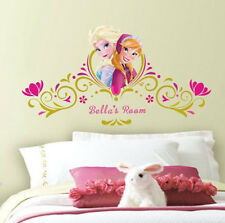 Disney FROZEN wall stickers MURAL stickups ANNA ELSA letters personalize decals