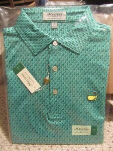 Masters Logo Peter Millar Augusta National Golf Polo Shirt Berckmans NWT M 2021