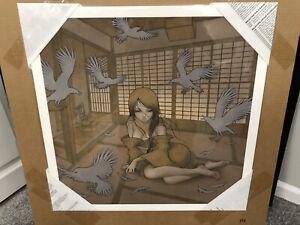 "Audrey Kawasaki - Kazamachi - Giclee Art Print - Signed - 24x24"" 2009 - 136/150"