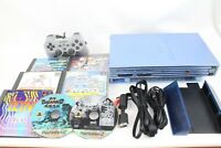 Sony PlayStation2 SCPH-39000 blue Console JP GAME PS2 Japan tested working