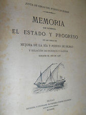 catalogue travaux à améliorer le fleuve et le port de Bilbao ESPAGNE 1928 ref 2