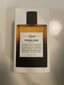 kiehls original musk cologne perfume toilette spray 1.7 oz NIB