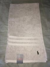 RALPH LAUREN Designer Bath Towel Grey Black Logo Stylish Gym Holidays Swimming