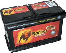 BANNER Autobatterie AGM RUNNING BULL 58001 12V 80Ah 800A/EN Start-Stop