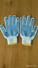 12 x Pairs of Medium Cotton Gripper Gardening Gloves