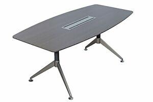 Nero Executive 1800mm Boardroom Table Anthracite (WxDxH) 1800x900x750mm