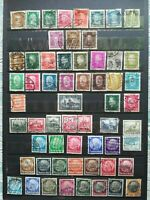 GERMANY 1926-1934: 59 USED STAMPS (Famous Germans, Presidents, Charity, etc)