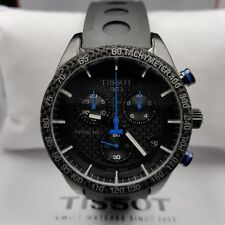 NEW BOXED GENUINE TISSOT PRS 516 CHRONOGRAPH WATCH T1004173720100 RUBBER STRAP