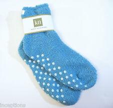 Karen Neuburger Ladies GRIPPER SOLE Slipper Socks Solid Blue Bell - NEW