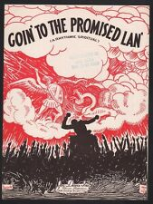 Goin To The Promised Lan 1932  Sheet Music