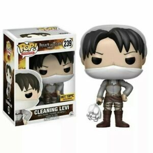 Funko Pop! Cleaning Levi 239 Attack On Titan AOT Hot Topic Exclusive IN HAND